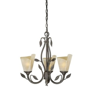 Vaxcel Lighting CP-CHU003 Capri 3 Light Single Tier Chandelier with Frosted Glass Shades - 20 Inches Wide
