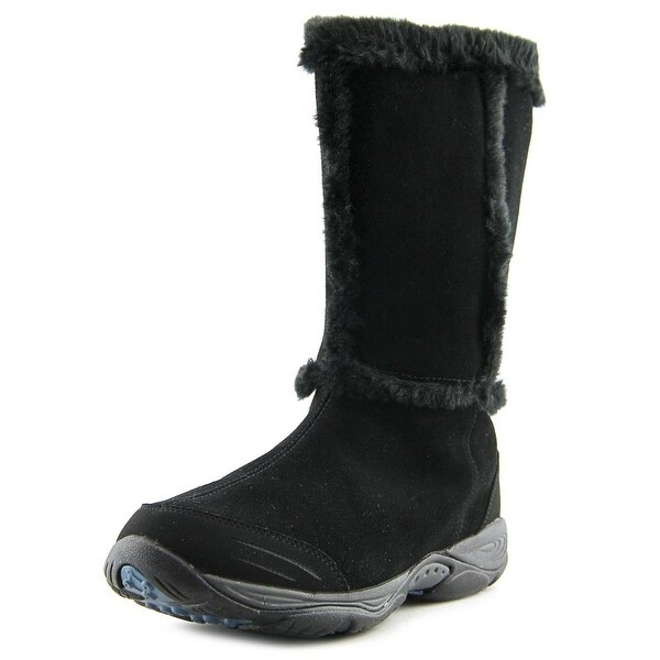 Easy Spirit Elk Women W Round Toe Suede Black Winter Boot