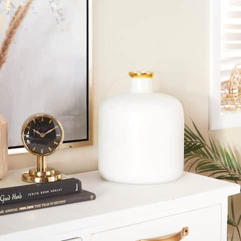 White Glass Glam Vase 12 x 10 x 10