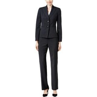 Le Suit Womens Pant Suit 2PC Pinstripe