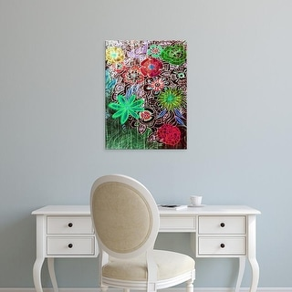 Easy Art Prints Danielle Harrington's 'Flower Drift II' Premium Canvas Art