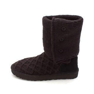 UGG Australia Womens Lattice Closed Toe Mid-Calf Fashion, w/black, Size 10.0