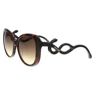 Roberto Cavalli 911S 52F Mintaka Red Havana Butterly Sunglasses - 56-17-140