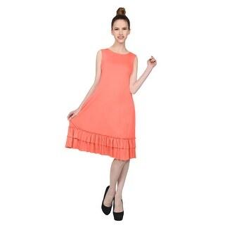 NE PEOPLE Women's Sleeveless Ruffle Hem Detailed Midi Dress S-3XL (More options available)