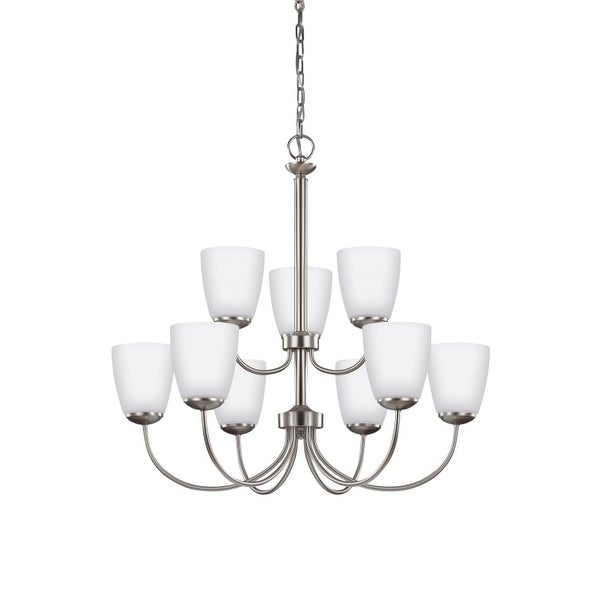 Sea Gull Lighting 3116609 Bannock 9 Light 27 7 8 Wide Chandelier With