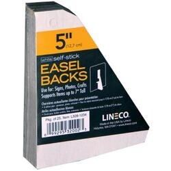"White Single-Wing 5"" - Self-Stick Chipboard Easel Backs 25/Pkg"