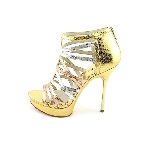 Michael Kors Womens Maddie Platform Open Toe Ankle Strap Platform Pumps
