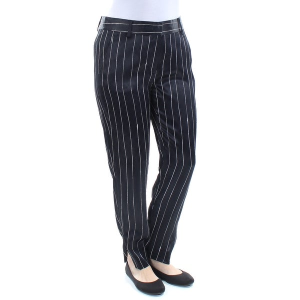 92dacbfea9 Shop DKNY Womens Black Striped Straight leg Pants Size: 4 - On Sale - Free  Shipping On Orders Over $45 - Overstock - 21299842