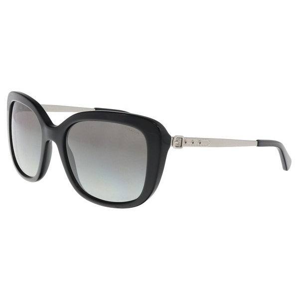 a0997f64240 Shop Coach HC8229 550111 Black Rectangle Sunglasses - 55-18-140 ...