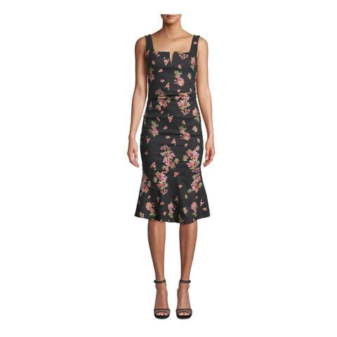NICOLE MILLER Navy Sleeveless Knee Length Dress 0