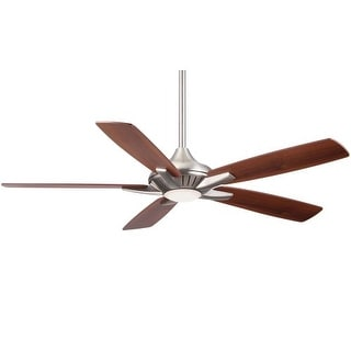 "MinkaAire Dyno 52"" 5 Blade Indoor Ceiling Fan with Integrated LED Light and Remote"