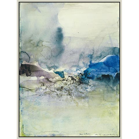 """Water Patterns by Zao Wou-Ki Giclee Print Oil Painting Silver Frame Size 14"""" x 18"""""""