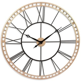 Link to The Tower XXL Large Open Face Metal Wall Clock 39 inch - Black and Gold II Similar Items in Decorative Accessories