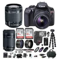 Canon EOS Rebel T6 DSLR Camera w/ EF-S 18-55mm / 55-250mm Lens &  Bundle