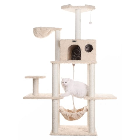 Armarkat Mult -Level Cat Tree Hammock Bed, Climbing Center for Cats and Kittens A6901