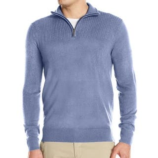 Geoffrey Beene NEW Blue Mens Size Small S 1/2 Zip Pullover Sweater|https://ak1.ostkcdn.com/images/products/is/images/direct/2d5fadd89028b97ed7ad282efad16f7de8afa316/Geoffrey-Beene-NEW-Blue-Mens-Size-Small-S-1-2-Zip-Pullover-Sweater.jpg?impolicy=medium