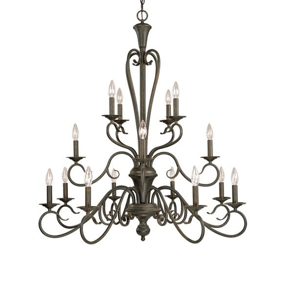 Millennium Lighting 516 Devonshire 16-Light Three Tier Chandelier - Burnished Gold