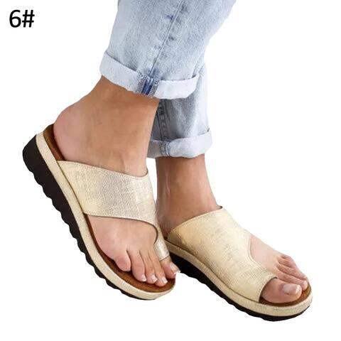 Fashion Women Summer Breathable Lightweight Flat Sole Sandals Slippers Shoes