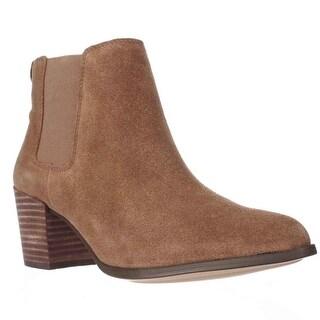 Anne Klein Geordanna Pull On Ankle Boots, Medium Natural/Medium Natural