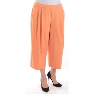 Womens Orange Wear To Work Wide Leg Pants Size 12
