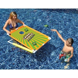 Water Sports Floating Corn Hole Bean Bag Target Toss Swimming Pool Game - Use In or Out of the Pool