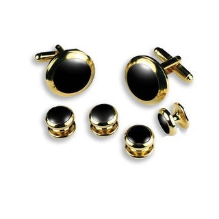 Cufflinks and Studs in Heavy Gold Setting