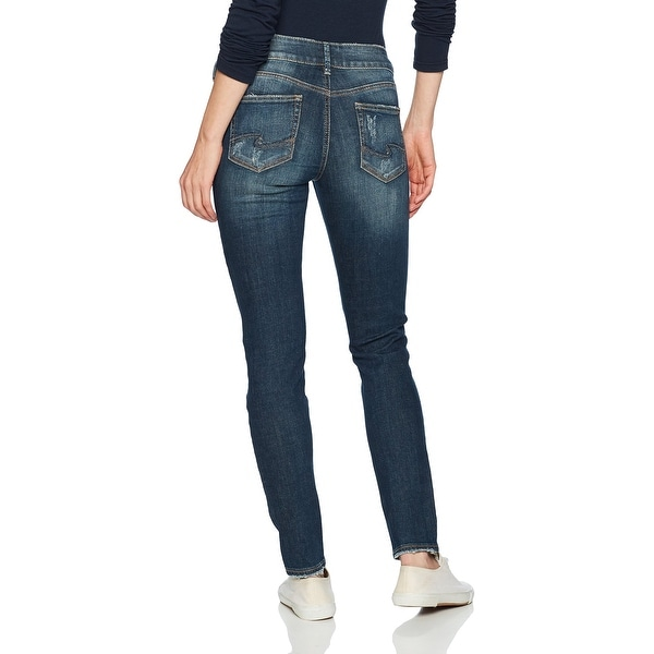 Womens Suki Curvy Fit Mid-Rise Super Skinny Jeans Silver Jeans Co