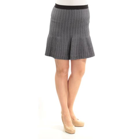 RACHEL ROY Womens Black Mini A-Line Skirt Size: L