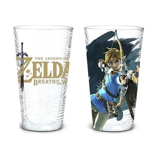 Link to Legend of Zelda Breath of the Wild 16oz Pint Glass Set - Clear Similar Items in Glasses & Barware