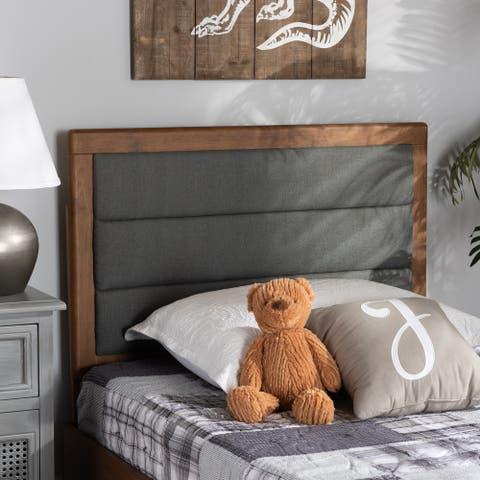 Dexter Modern and Contemporary Fabric and Wood Headboard-Dark Grey