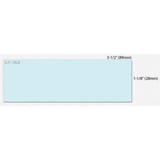 "Seiko SLP-1BLB Seiko Address Label - 3.5"" Width x 1.12"" Length - 130/Roll - 1 / Box - Blue"