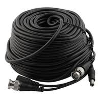 30m CCTV Security Camera DVR BNC Video Power Cable Cord Black 98FT