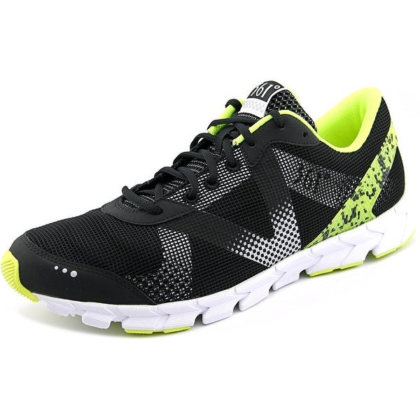 361 NGU Men Black/Silver/Flash Yellow Running Shoes