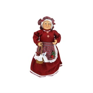 """17"""" Mrs. Claus with a Basket of Sweets Christmas Tree Topper or Table Top Decoration"""