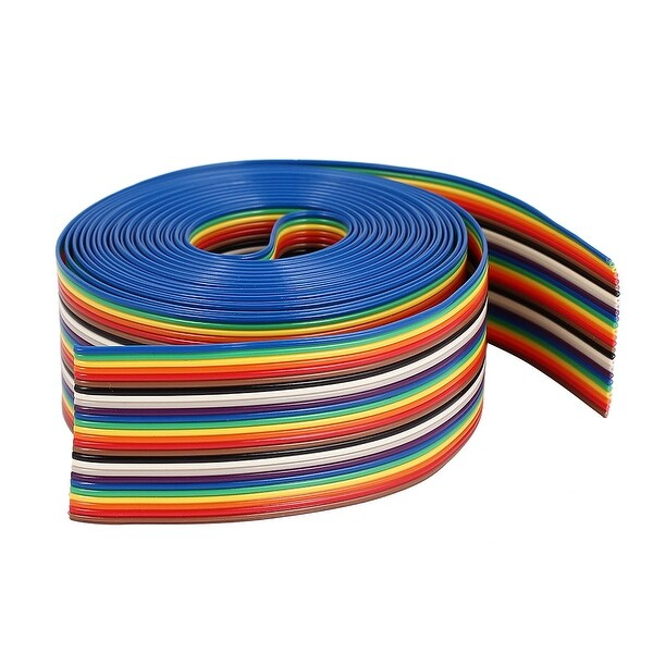 26Pin Flat IDC Ribbon Cable Connector 400 x 3.3cm Rainbow Color