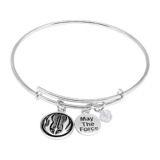 Star Wars Jedi Order Charms Bangle Bracelet in Sterling Silver - White