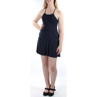 B DARLIN $90 New 1440 Navy Multi Strap Back Fit + Flare Dress Juniors 3 B+B