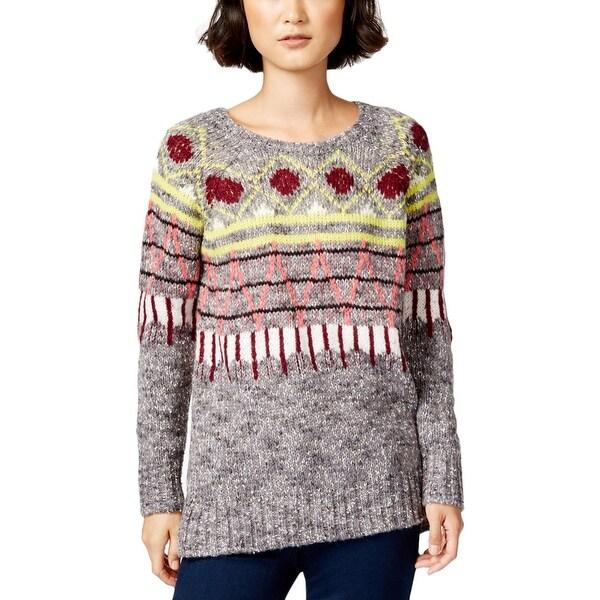 Kensie Womens Pullover Sweater Pattern Marled