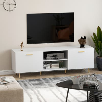 Entertainment Centers TV Stand With 2 Doors