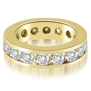 3.40 cttw. 14K Yellow Gold Round Channel Eternity Ring