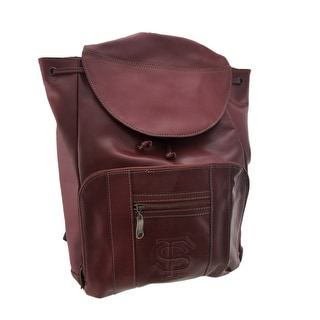 Officially Licensed Florida State University Seminoles Leather Backpack FSU - wine