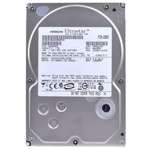 Hitachi Ultrastar A7K1000 1 Terabyte (1TB) SATA/300 7200RPM 32MB Hard Drive (Refurbished) - Silver - 1 x 4 x 5.75 inches