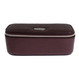 Dolce & Gabbana Bordeaux Leather Jewelry Sunglasses Case Box Organizer