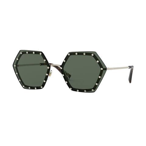 Valentino VA2035 300371 62 Light Gold Woman Irregular Sunglasses
