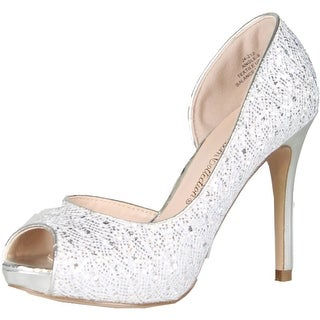 Blossom Womens Angle-9 Dress Peep-Toe Evening D-Orsay Pump