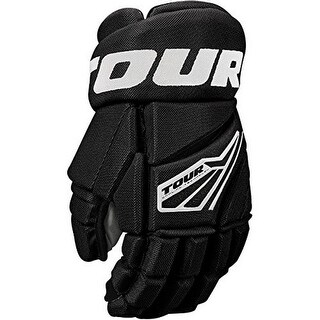 Tour Hockey Boys Code 3 Hockey Glove, Black/White, 12 In