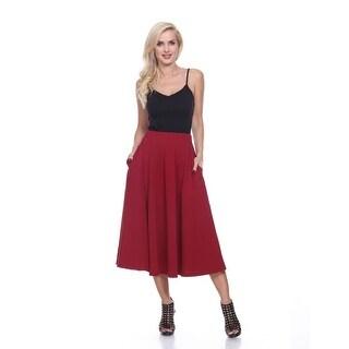 Midi Skirt with pockets - Burgundy