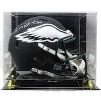 5eea7ea250e Carson Wentz Signed Eagles FS Black Matte Replica Helmet Fanatics w/Acrylic  Case