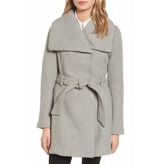Steve Madden NEW Gray Womens Size Medium M Draped Waffle Knit Coat