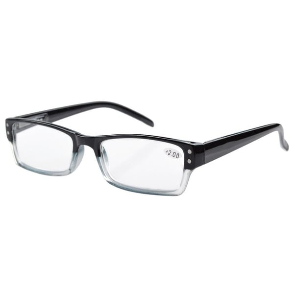 Eyekepper Spring Hinges Reading Glasses Men Women With Case Black +1.00